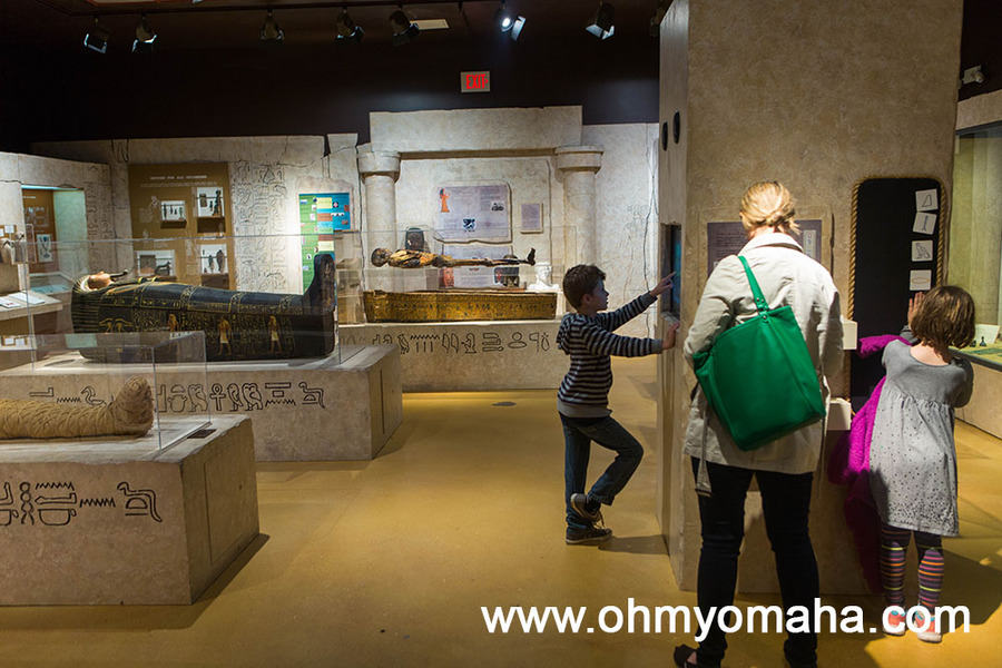 The Egypt exhibit at the Putnam Museum in Davenport, Iowa