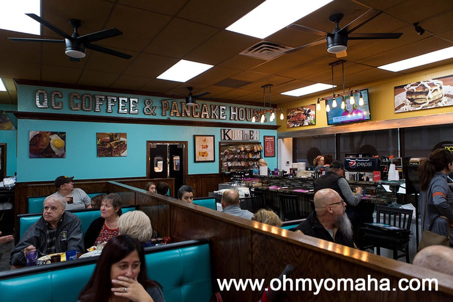 Dining room at QC Coffee and Pancake House in Rock Island, Illinois