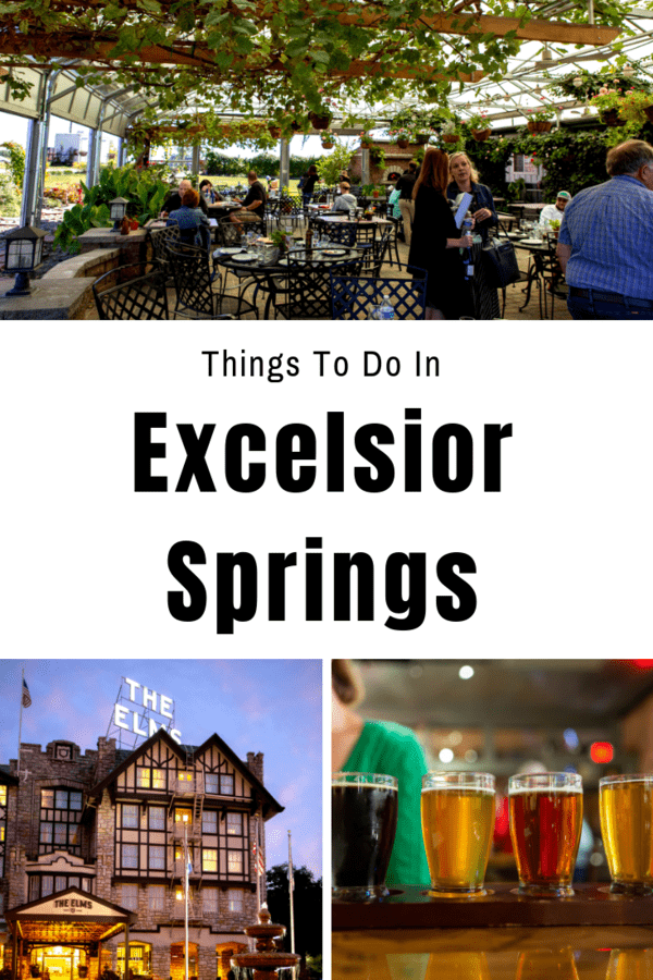Guide to a weekend in Excelsior Springs - Where to eat, where to try local beers and wine, and details on a mineral springs walking tour and a scenic bike trail