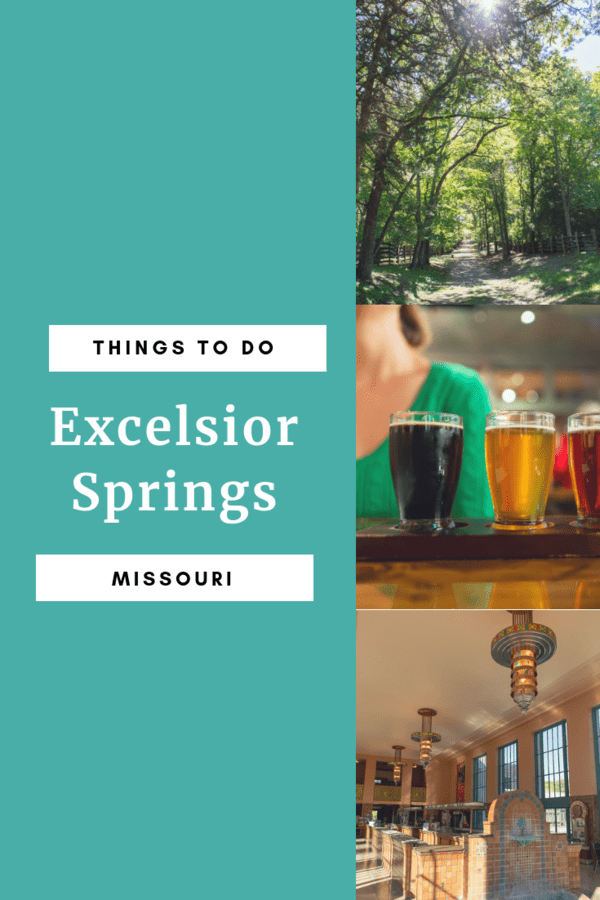 Weekend getaway to Excelsior Springs, Missouri - Fun things to do including bike ride, visiting a national historic landmark, trying local beer and wine, and seeing The Hall of Waters