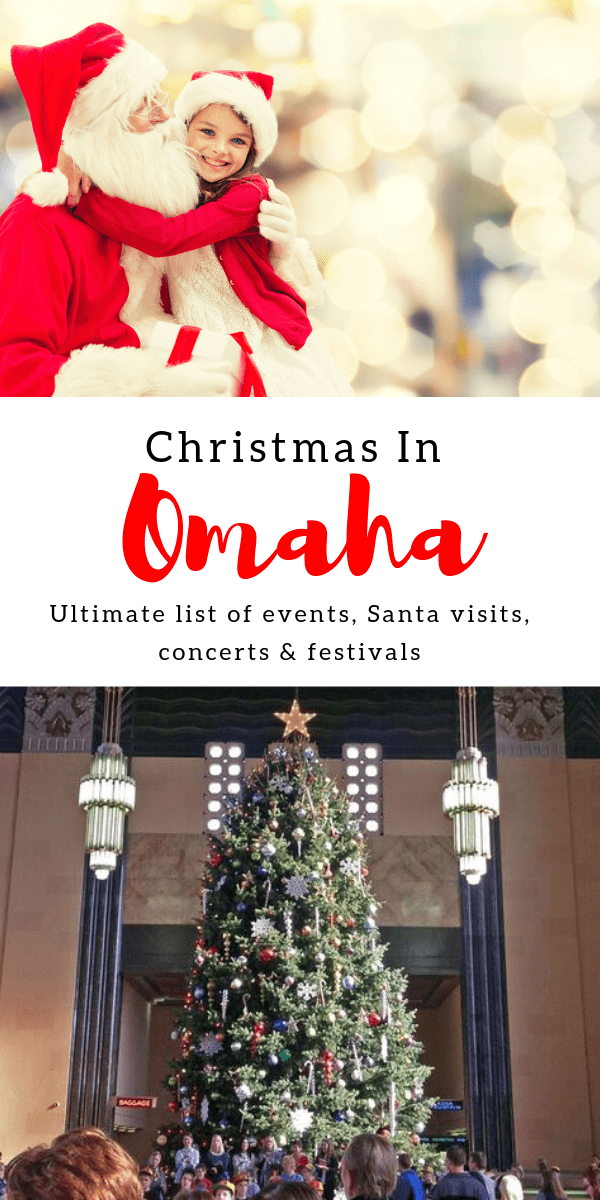 The ultimate holiday events list for Omaha {updated for 2019!} - Includes concerts, festivals, Santa visits, special dinners, performances, Christmas-themed fun runs, and more. This is a great list if you're looking for something to do in Omaha this November or December. #holidays