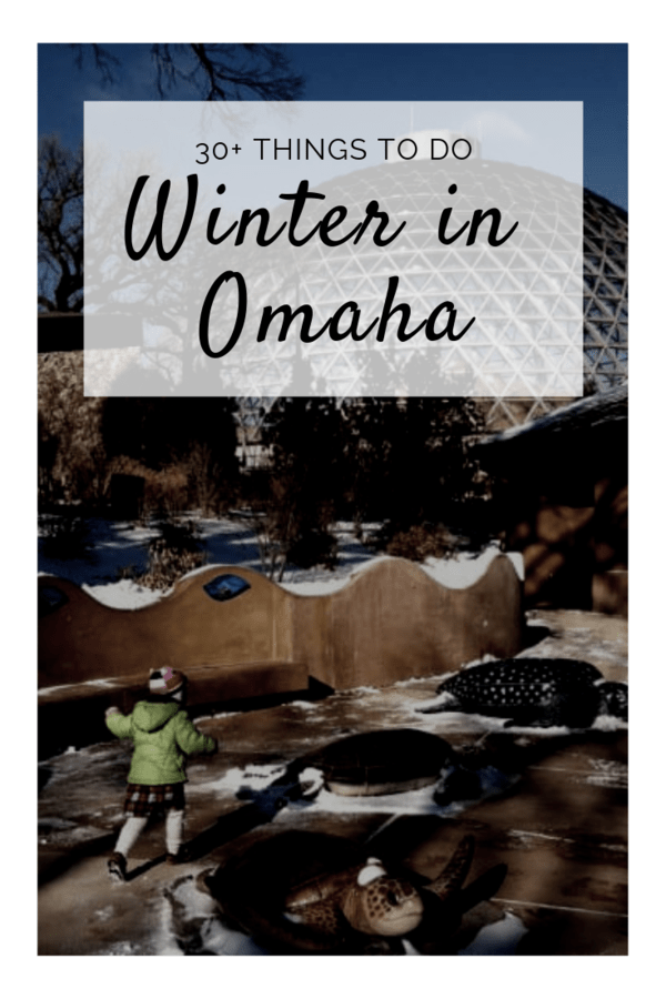 Things to do in Omaha in the winter - Including activity centers, climbing walls, museums, sledding hills, ski slopes, snow shoe rentals, ice skating, and so much more! #Nebraska #winter #snow