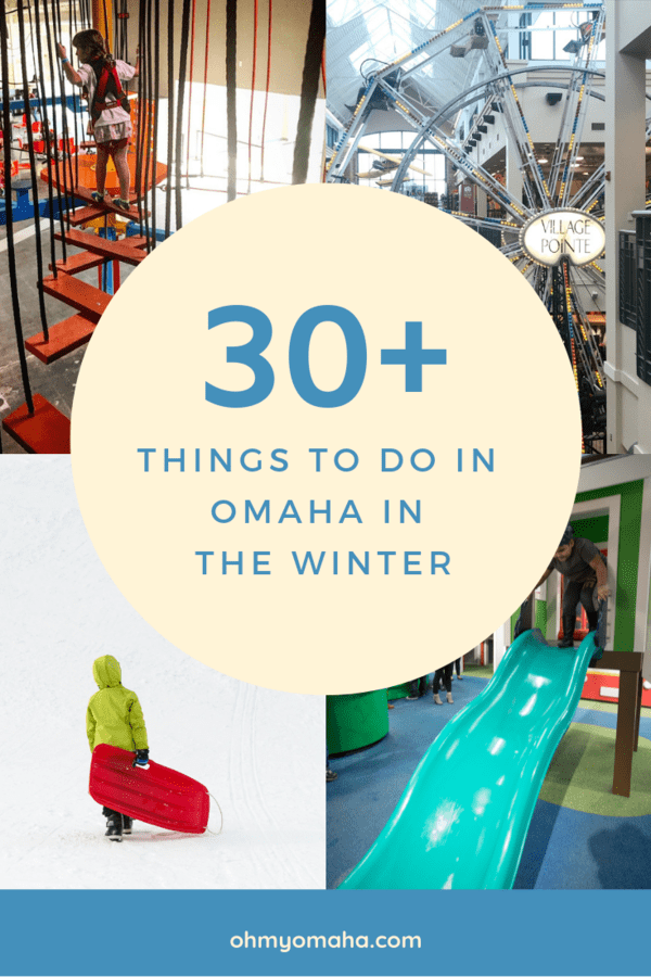 A huge list of things to do in the winter in Omaha, Nebraska - Everything from rock walls to snow shoeing, plus the best sledding hills, cheap movies and more