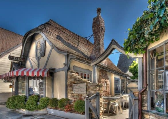 The store front to Tuck Box in Carmel-by-the-Sea, Calif.