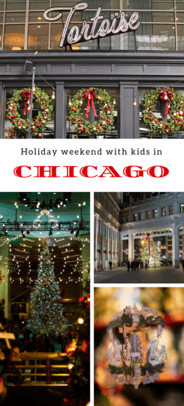 Family-friendly things to do in Chicago at Christmas - Where to find displays in downtown Chicago, kid-friendly restaurants, and more #holidays #familytravel #Chicago #OhMyChicagoHoliday