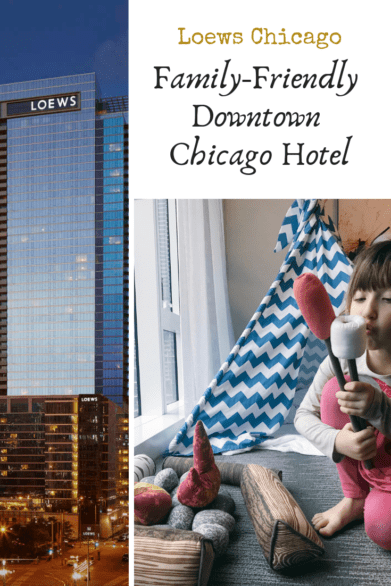 Visiting Chicago and looking for a family-friendly hotel? Check out this review of Loews Chicago, a hotel located within walking distance of popular attractions. #Chicago #familytravel #WindyCity #hosted