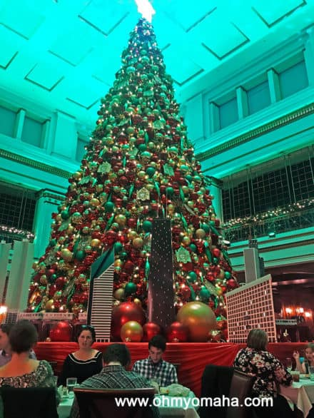 Walnut Room dining room Christmas tree inside the Macy's in downtown Chicago