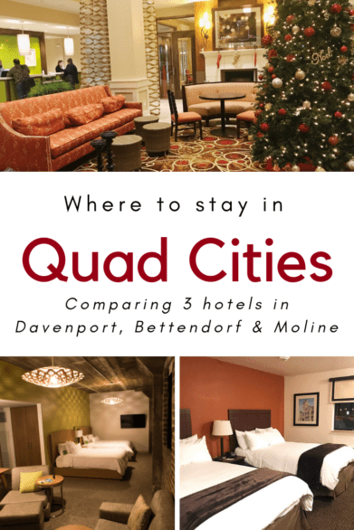 Not sure where to stay in the Quad Cities? This post compares three hotels located in Davenport, Bettendorf and Moline. #Iowa #Illinois #familytravel