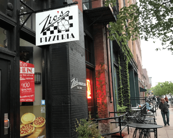 Exterior of Zio's Pizzeria in Omaha's Old Market