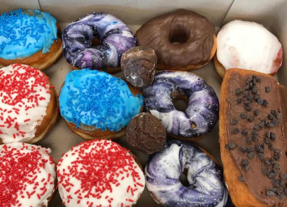A box of donuts from Cops & Doughnuts in Michigan