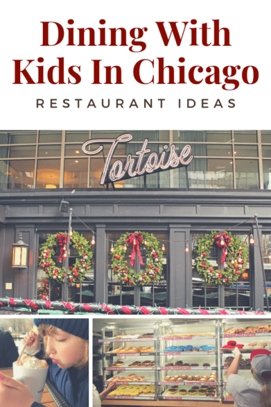 Restaurants to try with kids when visiting Chicago - Includes donuts, fine dining, and traditional Chicago fare like deep dish pizza #familytravel #Chicago #Illinois