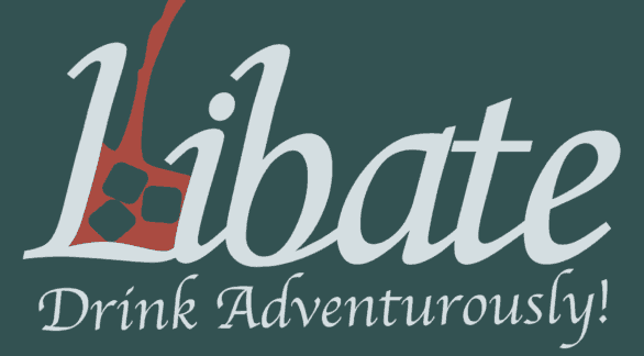 "The Libate app logo and ""Drive Adventurously"" tagline"