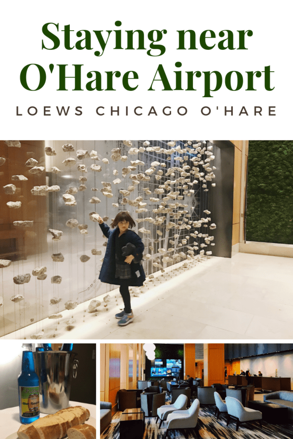 Looking for a hotel near O'Hare Airport or the Fashion Outlets of Chicago? Here's a look at Loews O'Hare, a place full of art and local flavors. #LoewsPartner #Chicago #familytravel