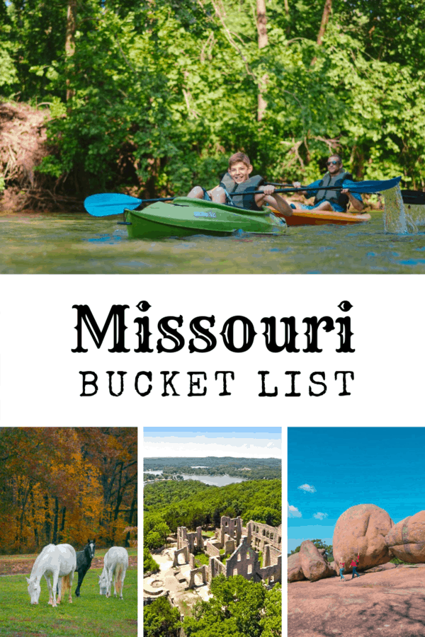 Missouri Bucket List - All the things I want to do, see, eat and explore in #Missouri #USA. Includes caves, ruins, wild horses, and some throwed rolls. #familytravel #bucketlist