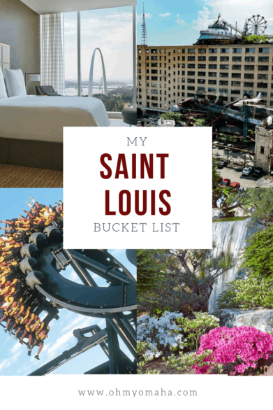 Headed to Saint Louis? Here's a dream list of things to do and see in the city! #STL #Missouri #bucketlist