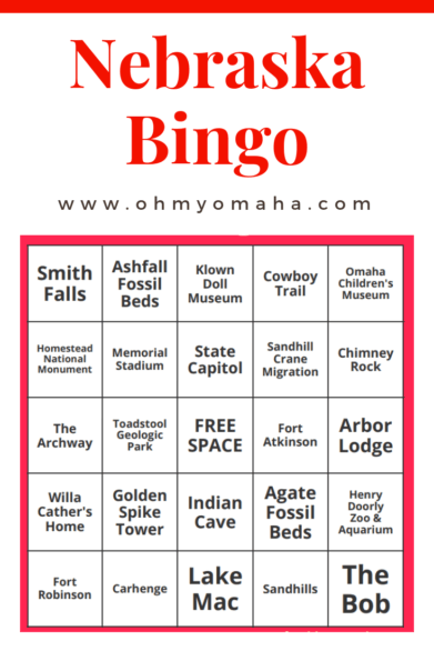 How many Nebraska landmarks have you visited? #Nebraska #Bingo