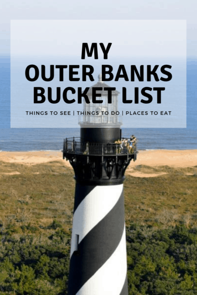 Headed to the Outer Banks? Start with this list! Read about the amazing things to see and do with kids in North Carolina's famous Outer Banks #bucketlist #familytravel #OBX