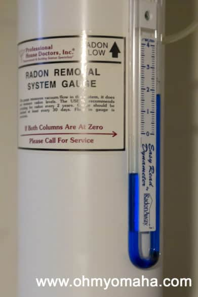 Radon Mitigation System, or a Radon Removal System Gauge