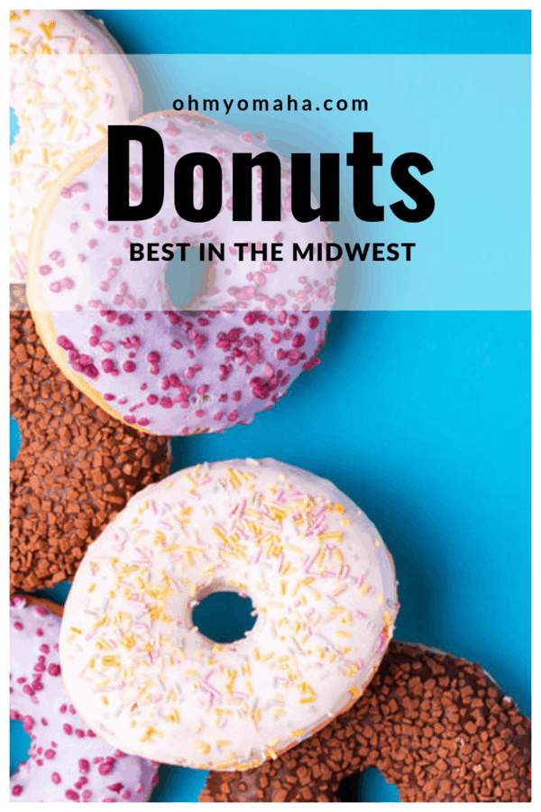 Midwest's best donuts - A list of popular donut shops in Midwest states, including Illinois, Michigan, Minnesota, Missouri, Nebraska, North Dakota and Iowa #doughtnuts #donuts