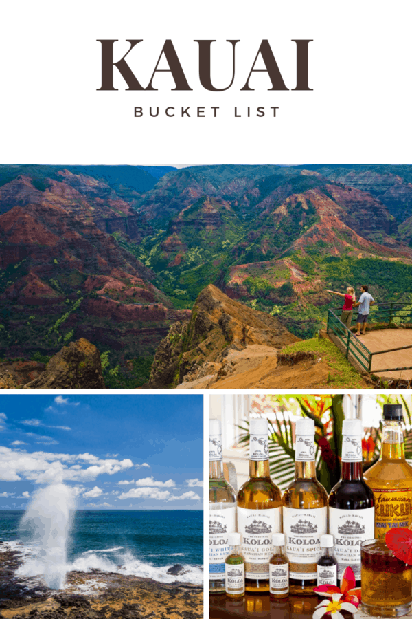 Kauai Bucket List - List of things to do, things to see & things to eat if money and time were no barrier #Hawaii #bucketlist #travel