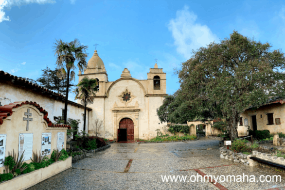 The Carmel Mission Basilica in Carmel-by-the-Sea California