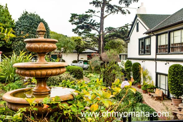 Fountain in a courtyard in Carmel-by-the-Sea California