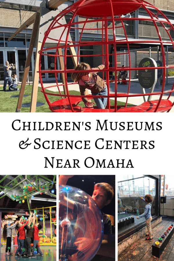 Kid-friendly museums that are a road trip away from Omaha! See which children's museums & science centers are within 3 hours of Omaha, Nebraska. #familytravel #museums