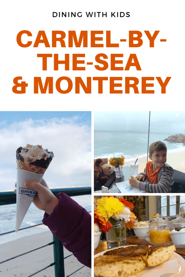 Heading to Carmel-by-the-Sea and nearby Monterey? Here are a selection of restaurants that were kid-friendly (and some not-so-much), plus a wine tasting room that accommodated families! #familytravel #California