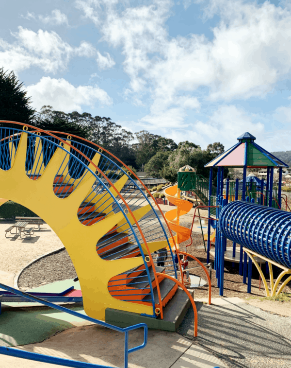 Outdoor places for kids to play near Carmel - The Dennis the Menace Playground in Monterey is worth the drive
