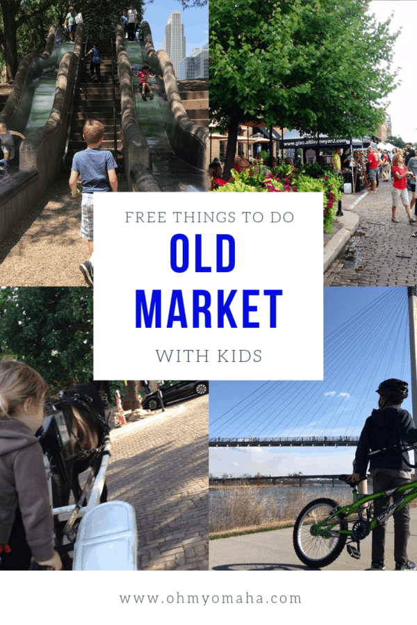 Visiting Omaha with kids? Don't skip the picturesque Old Market! Here's a guide to free things to do in the Old Market and the nearby attractions in downtown Omaha.  #Omaha #Nebraska #guide