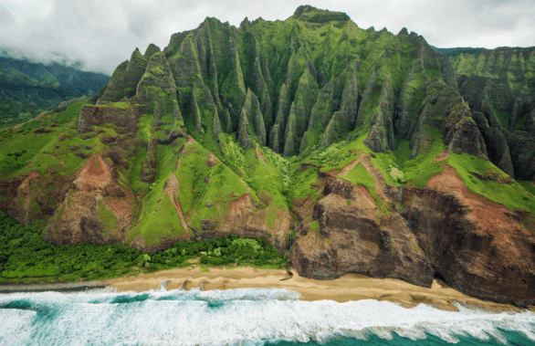 Na Pali Coast on Kauai, Hawaii