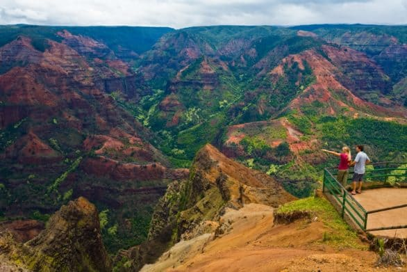 View of Waimea Canyon on Kauai, Hawaii