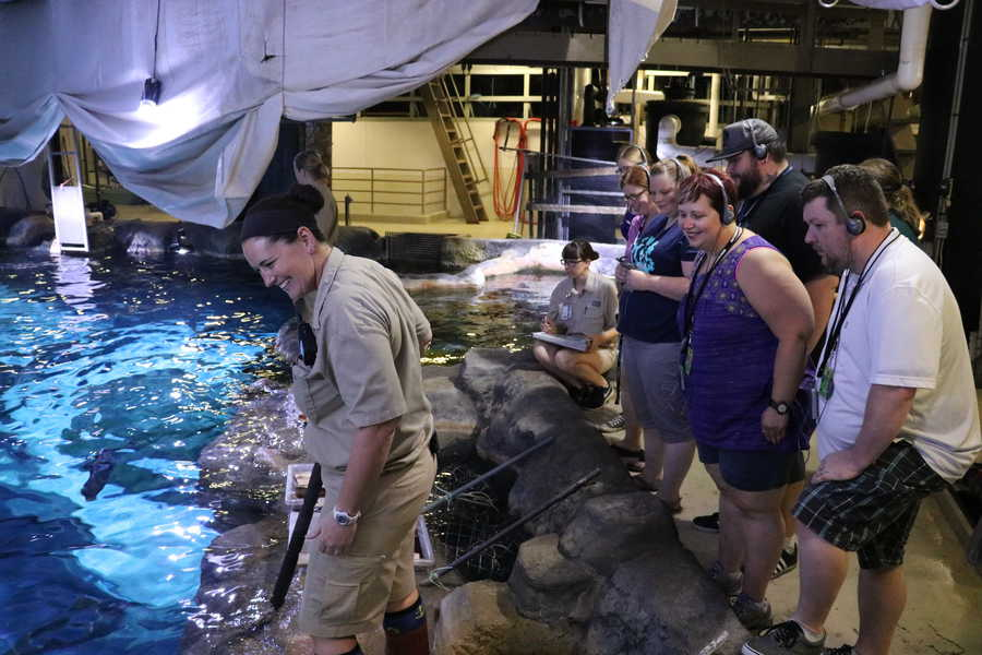 Behind-the-scenes tour of the aquarium at Omaha's Henry Doorly Zoo & Aquarium