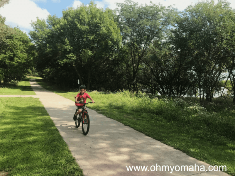 Kid-friendly bike trails in Omaha - Chalco Hills Recreation Area in West Omaha is a scenic park to bike around.