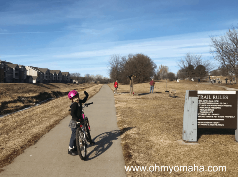 Kid-friendly bike trails in Omaha - Keystrone Trail is a good, flat option