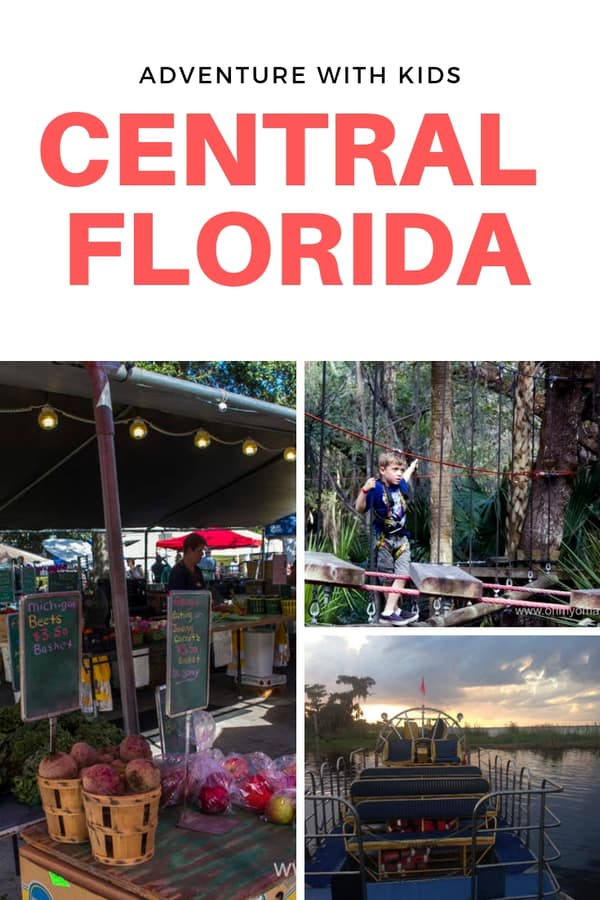 Fun adventures for families in Central Florida - Things to do with kids in Seminole County, like canoeing, zip line & ropes course, a zoo, and airboat rides. Seminole County is just north of Orlando! #familytravel #Florida