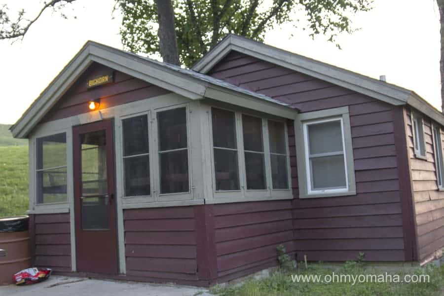 Exterior of a two-bedroom cabin at Chadron State Park in Nebraska