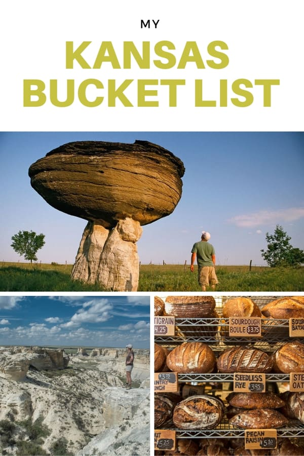 My Kansas Bucket List - A wish list of things to do and awesome places to see in Kansas | Kansas landmarks and attractions | Best Kansas restaurants | Trails and museums in Kansas #USA