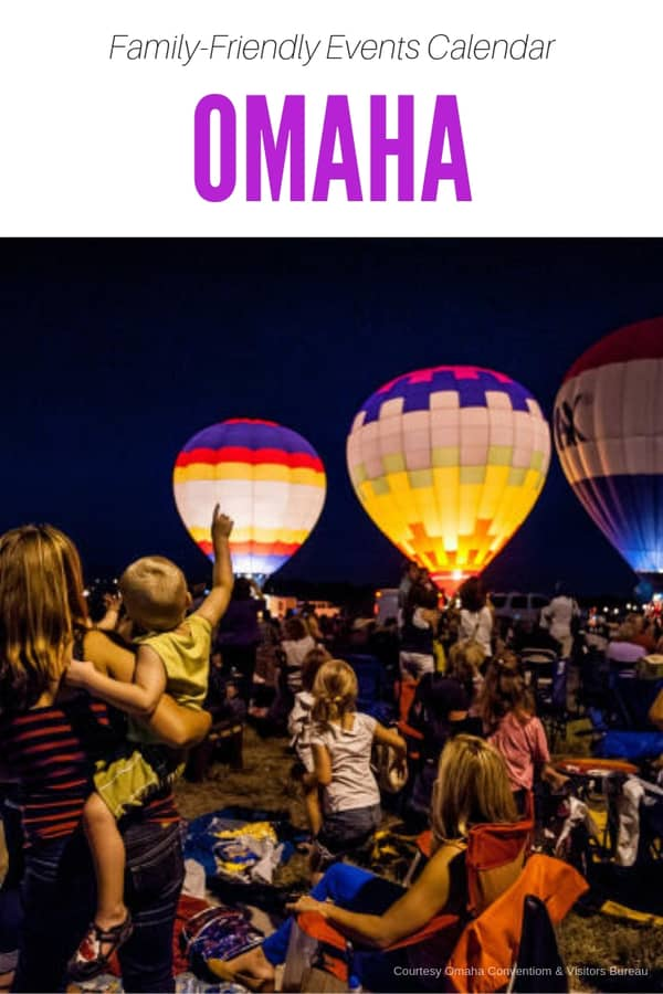 Looking for something to do in Omaha? Here's a family-friendly events calendar for Omaha, featuring exhibits and shows, free activities, festivals and more things that kids will like! #Nebraska #USA