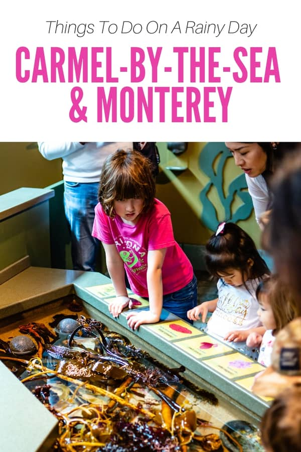 Planning a trip to Carmel-by-the-Sea or Monterey Bay? Keep these places in mind if it's a rainy day! This is a list of indoor activities that are great for all ages. #California #USA #familytravel