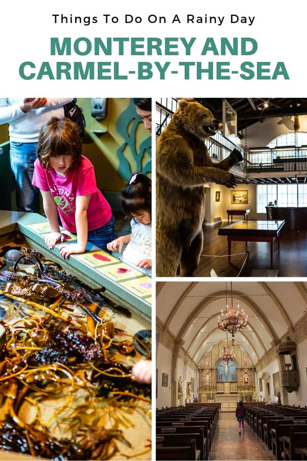 List of things to do on a rainy day in Monterey or Carmel-by-the-Sea, California. If you're planning a trip to the area, keep these indoor activities in mind!