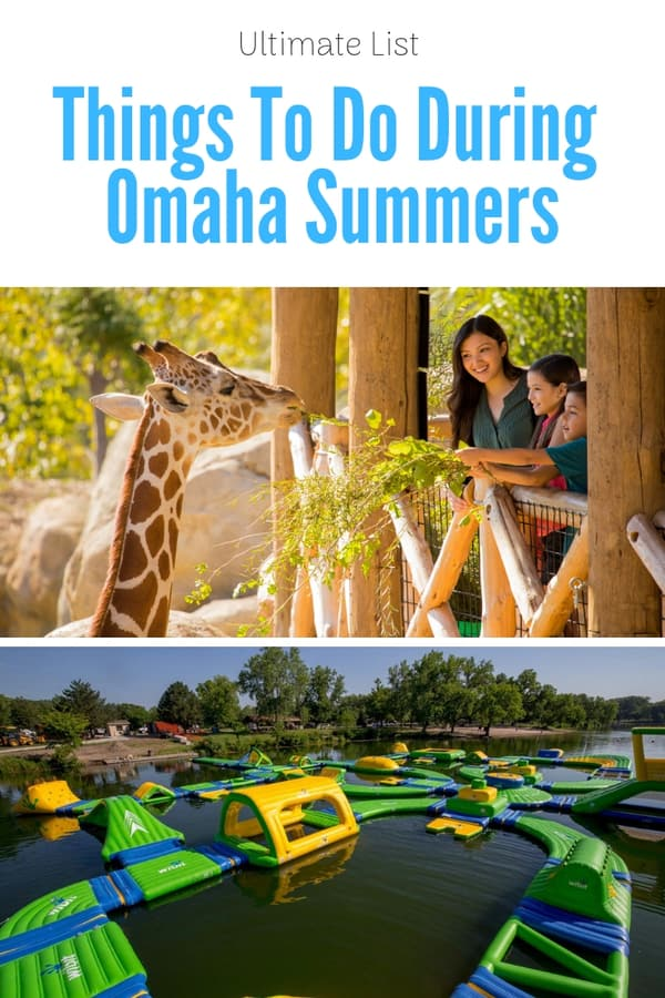 Huge list of things to do in Omaha in the summer - Water activities, parks to visit, museums & exhibits, and free activities for families and visitors. #Nebraska #outdoors #vacation