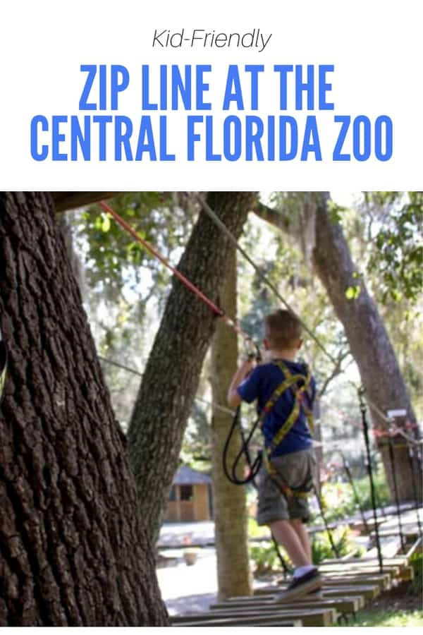 Traveling to Orlando or Sanford, Florida? Here are the details about the kid-friendly zip line and ropes course at the Central Florida Zoo. It's a fun activity for adventurous families!