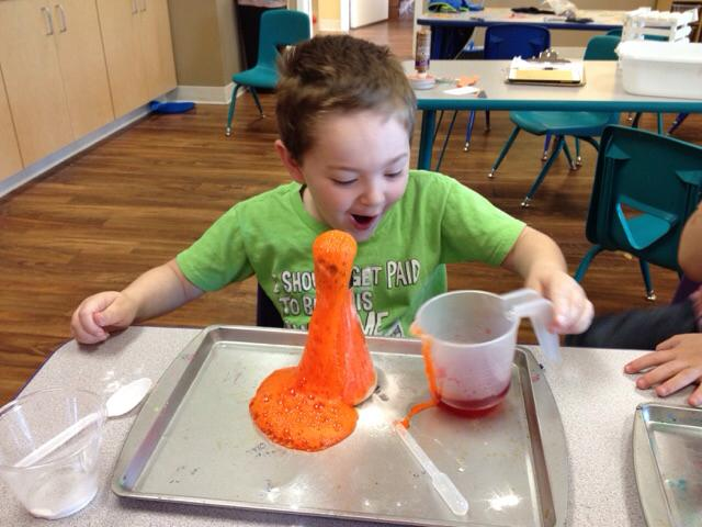 Classroom science experiment at Premier Academy Child Enrichment Center in Omaha, Nebraska