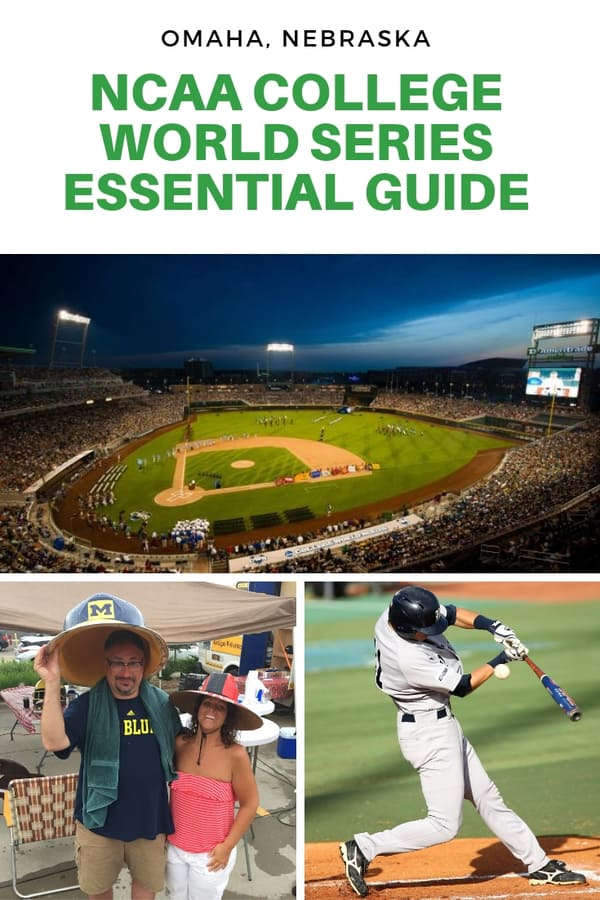 Guide to the College World Series in Omaha Nebraska | Essential information for attending CWS games | How to get tickets to the College World Series | Tailgating at the College World Series | Things you should know about visiting Omaha during the College World Series #baseball #Nebraska #sports