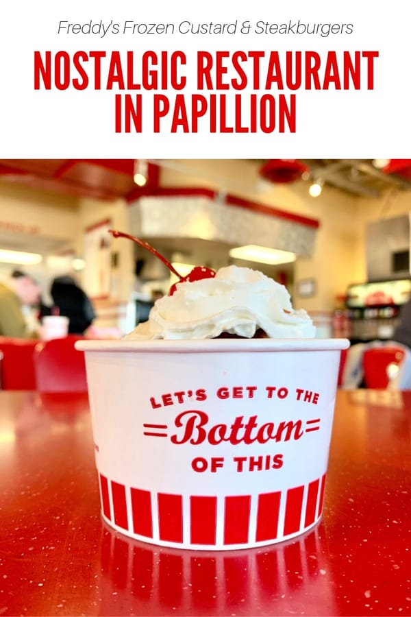 What's at Freddy's Frozen Custard & Steakburgers? Read up on the best thing to order, what kids love on the menu, and more! #Papillion #Nebraska #Restaurant