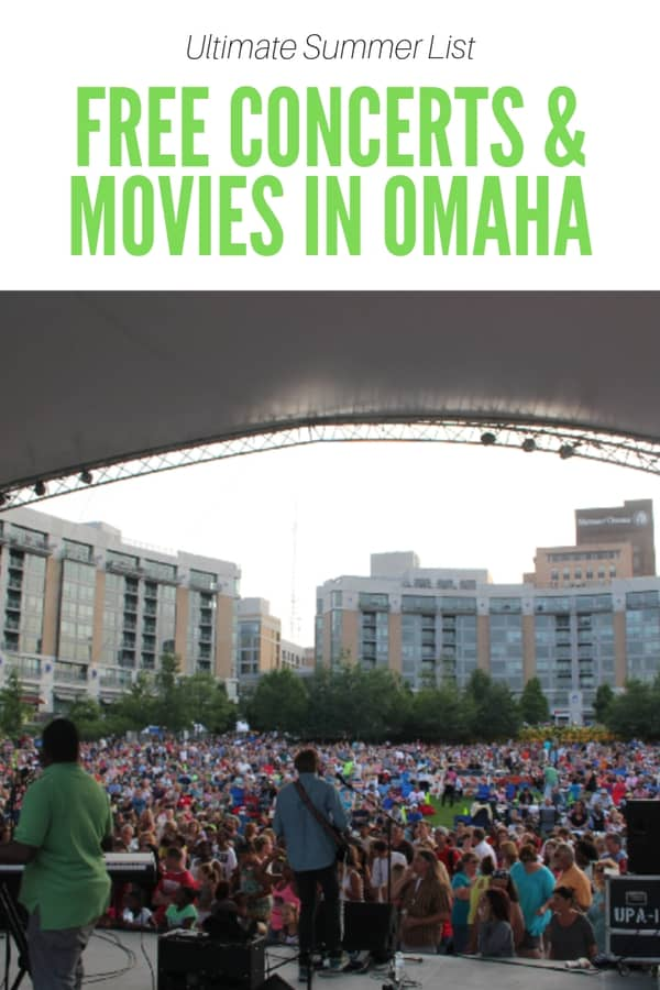 Looking for free things to do in Omaha? Summer is a great time for free concerts and free outdoor movies!
