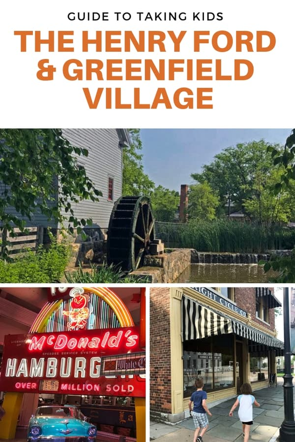 There's so much to see and do at The Henry Ford campus in Detroit! Read about the areas kids like in the museum and at Greenfield Village, plus get tips to prep for your visit. #Michigan #familytravel #guide #tips