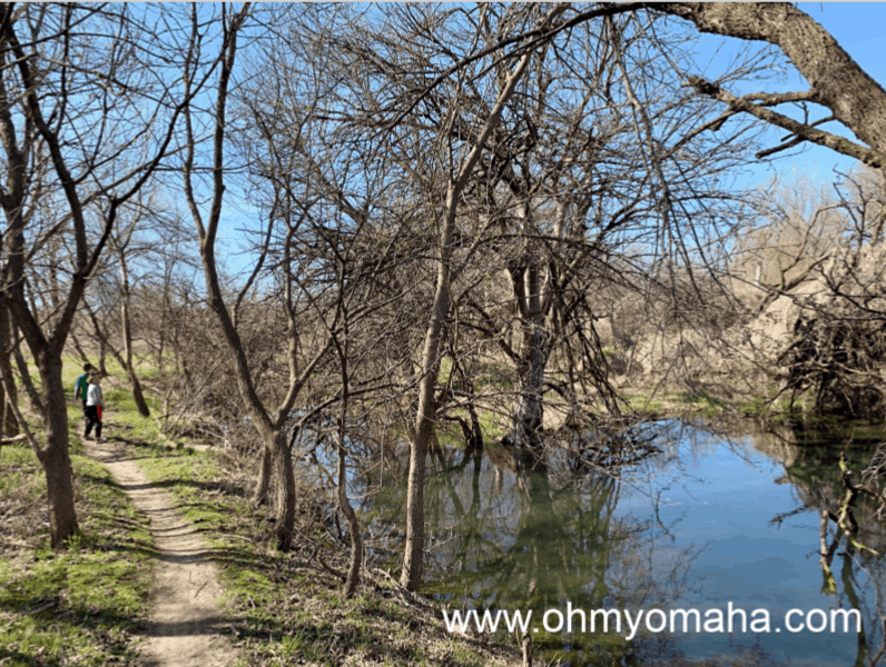 Walnut Creek Recreation Area trail in Papillion, Nebraska