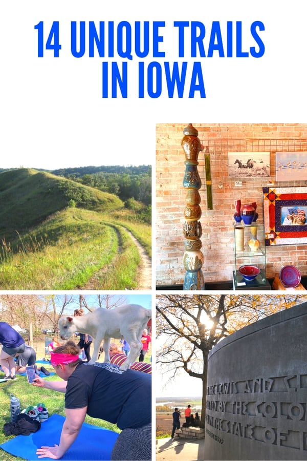 Exploring the county that's know as the Trail Capital of Iowa - A look at the 10+ trails in Pottawattamie County, including a water trail, a wine trail, historic trails and more! Of course there are trails for active adventurers seeking hikes, biking or paddling in Iowa.